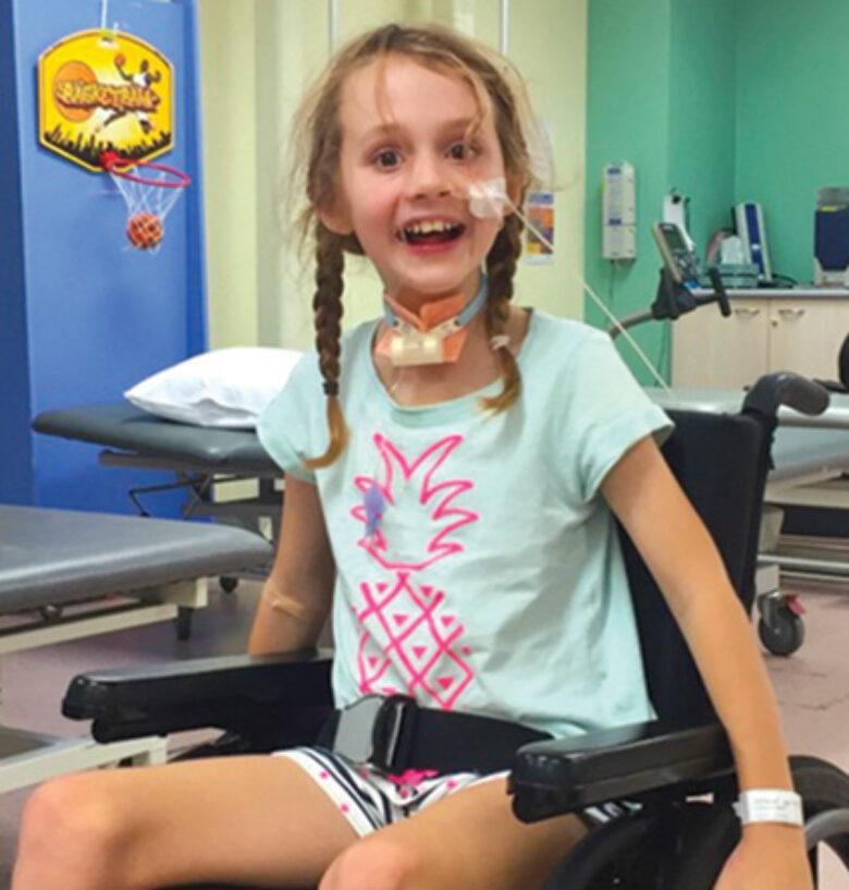 Hannah at the hospital