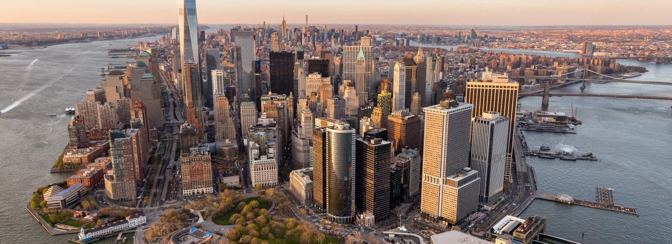 Aerial picture of New York City.