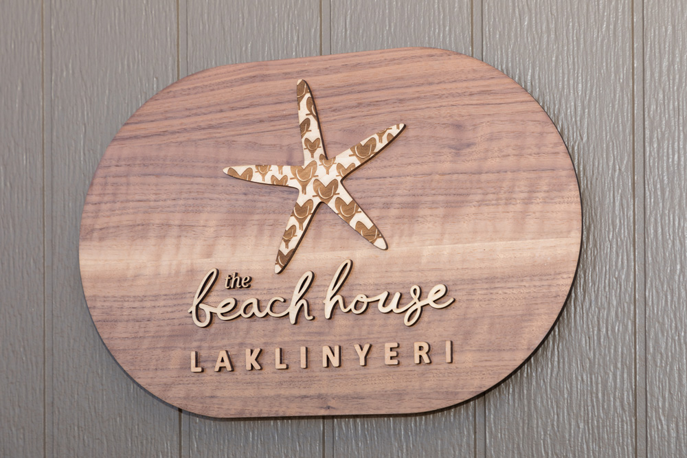 Laklinyeri sign at the WCH Foundation Laklinyeri Beach House