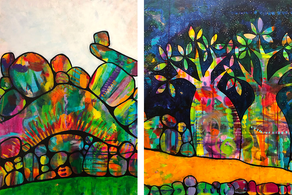 Colourful artworks on Australia's top end.