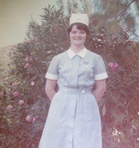 Young woman training to be a nurse.