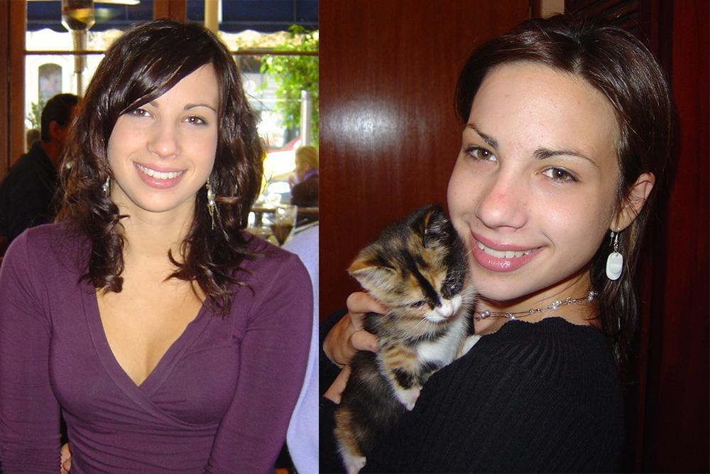 Lauren's Legacy : Lauren sat in a restaurant alongside Lauren with her cat.
