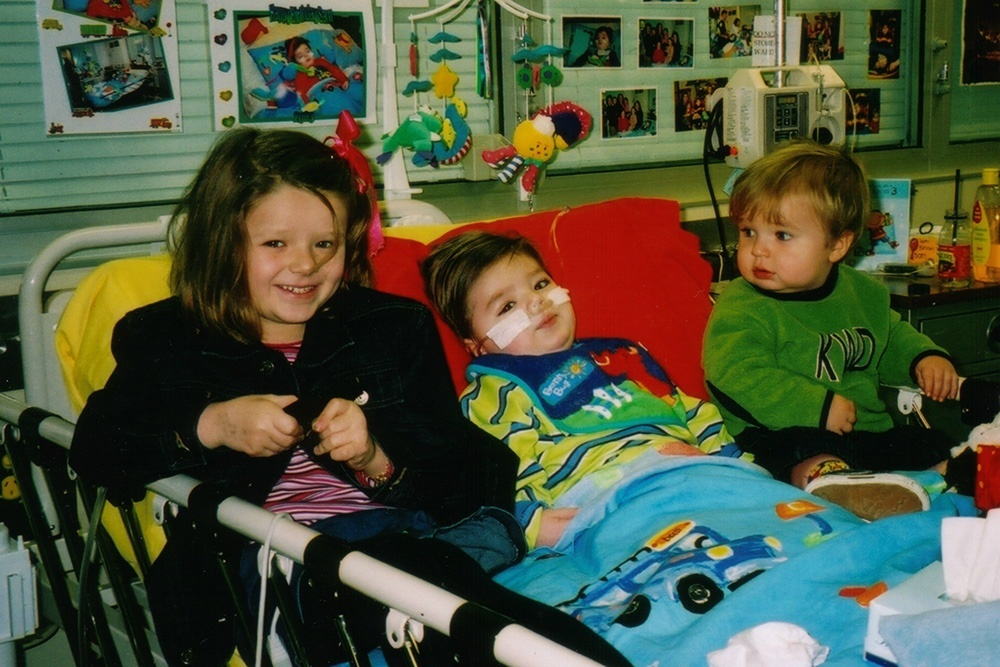 Challenge 21: Sam Roberts in the WCH with siblings Lucy and Charlie.