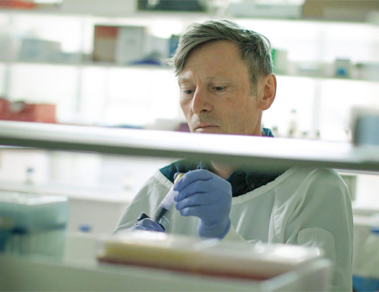 Simon Barry in lab